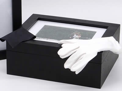 Cotton Gloves and Lens Cloth Included With Folio Box