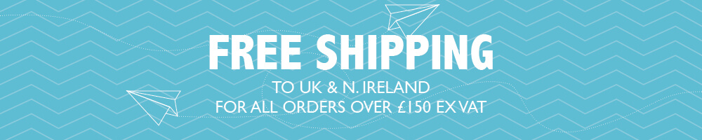 Free Shipping to UK for orders over £150 ex VAT