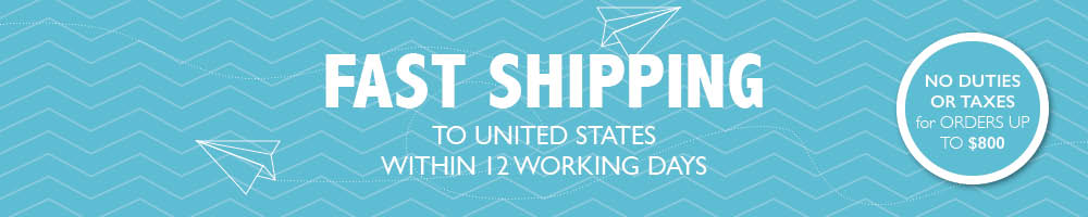 Free Shipping to USA for orders over $230