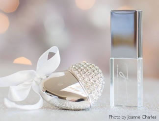 Jewelled Heart and Crystal USB flash drives