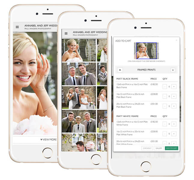 Send a text to your client and let them shop from their gallery on any mobile device