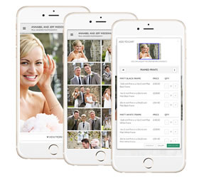 Send a gallery link by text to your client and watch them shop online from any mobile device