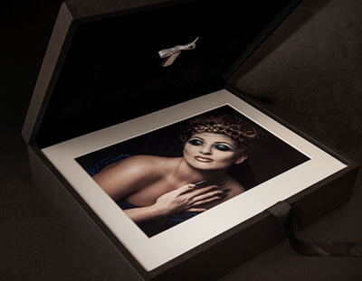 Black Folio Box with 10x7 matted prints