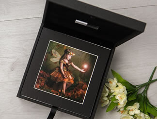 Premium Colours 8x8 Folio Box with USB