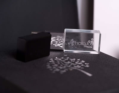 Luxury black USB box for photographers