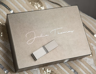 Luxury metallic 6x4 print boxes for photographers