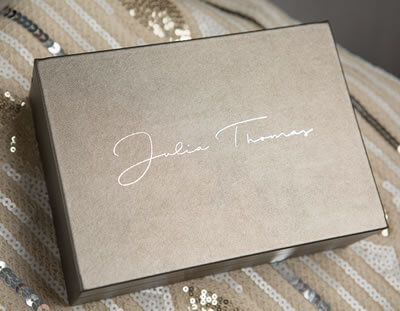 Luxury metallic print boxes for photographers