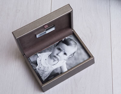 Premium Metallic Print Box with USB for photographers