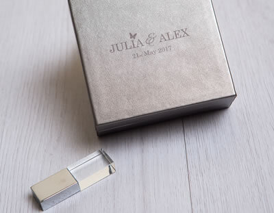 Premium Metallic USB Box for photographers