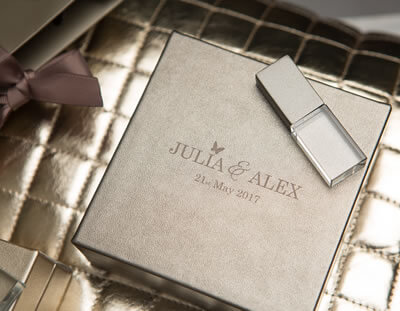 Metallic USB Presentation Boxes for photographers