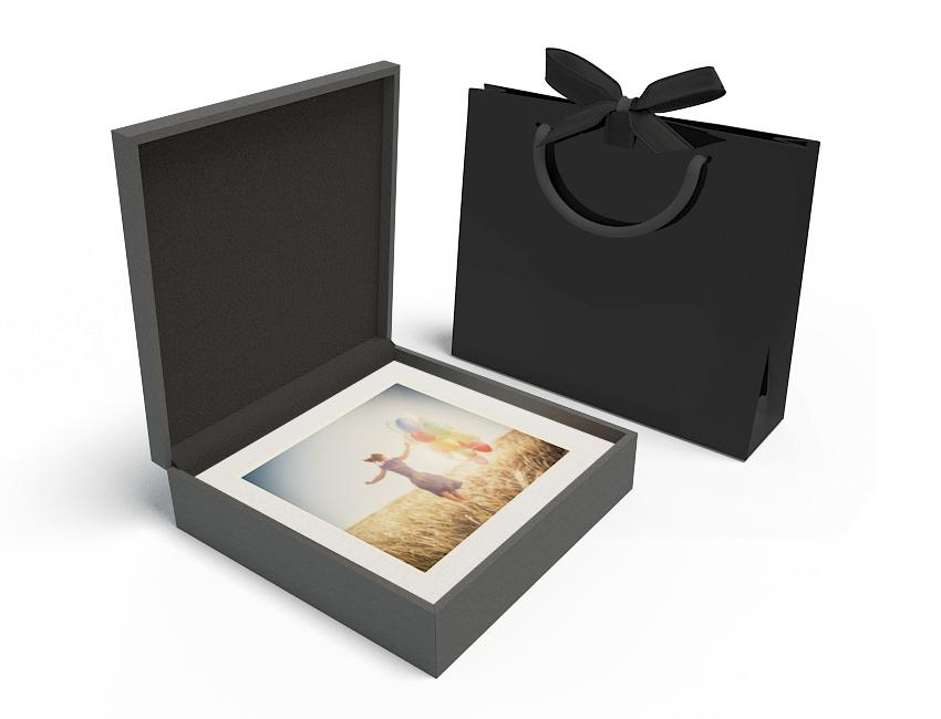 Premium Black Box 13x13 - No USB, White Mats