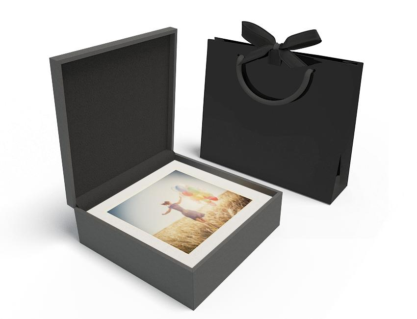 Premium Black Box 13x13 XL - No USB, White Mats