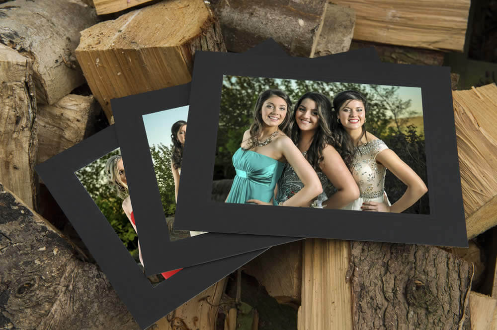 Modern Mount 8x10 Black - Pack of 100