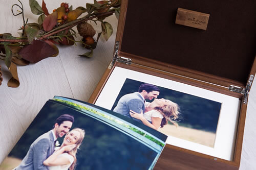 Premium Wood 10x8 XL Folio Box with USB