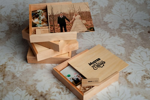 UV Color Printed Wooden Print And USB Box