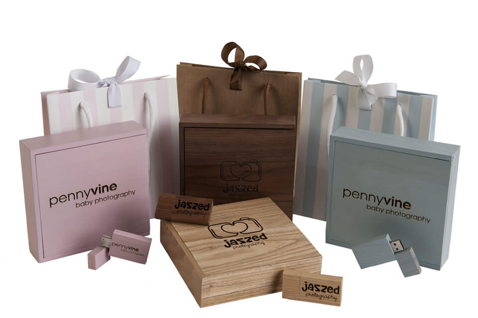 Wooden Premium USB Presentation Packs for Photographers