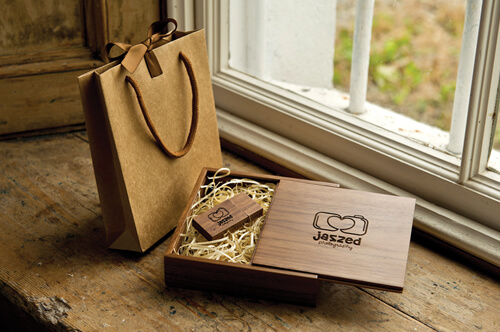 Premium Wood USB Pack
