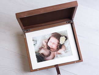 Premium Wood 8x10 Folio Boxes