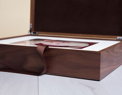Coffret Folio Wood Premium en noyer 28X35
