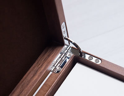 Luxury wooden folio box for photographers