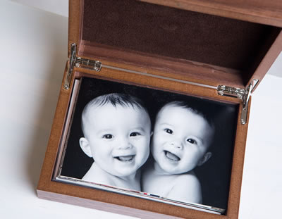 Premium Walnut Wood 4x6 Print Box