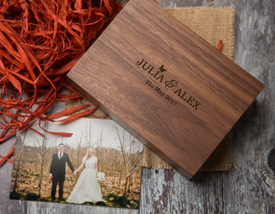 Wooden print box for photographers