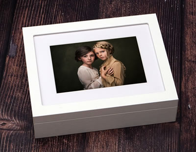 10x8 Premium Window Folio Boxes shown in white