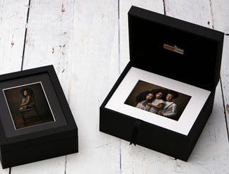 Premium Window 10x8 Folio Boxes with USB