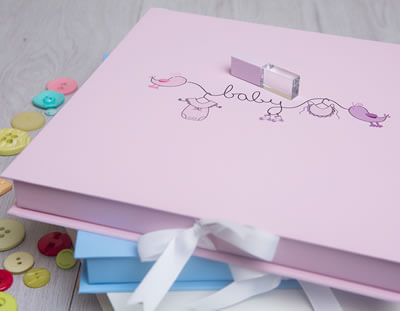 Full Colour UV Printing on a Baby Girl Folio Box