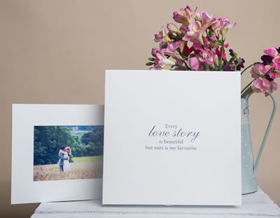 Combine digital files with mounted prints in a folio box