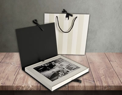 12x10 Folio Box with 10x8 mounted prints