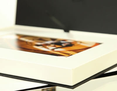 10x8 Folio Box with 8x6 mounted prints