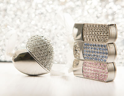 Jewelled Heart and Twist USB flash drives