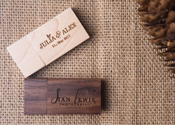 Walnut and Pine Wood USB Flash Drives