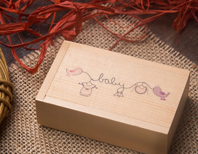 Wooden USB Presentation for Newborn Photographers