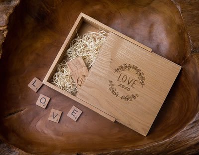 Wooden USB Flash Drives for Photographers