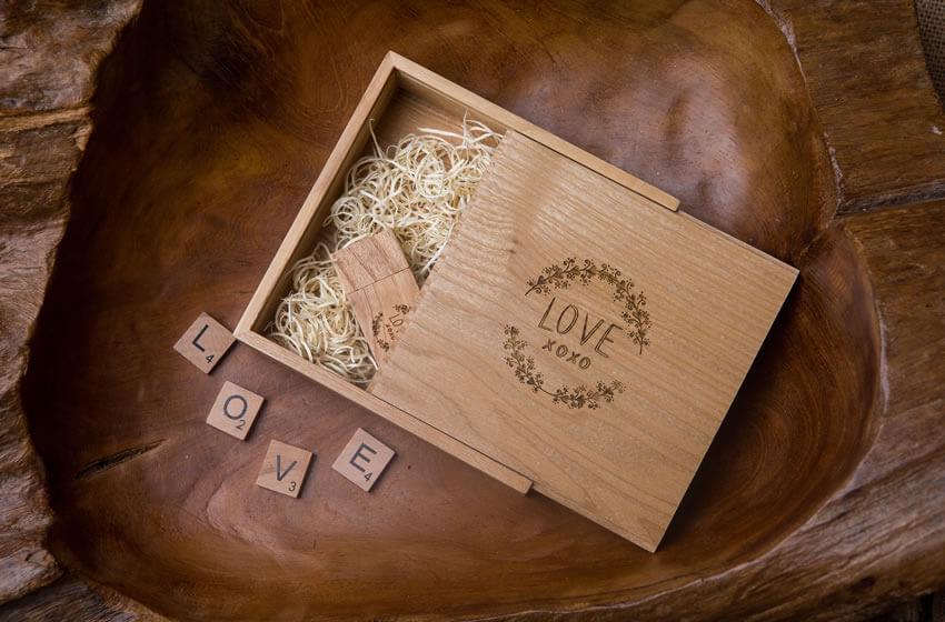 Solid Oak USB Box