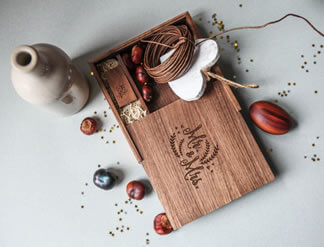 Walnut 4x6 Print and USB Box